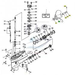 Ricambi Piede 25J, 30D Yamaha Marine