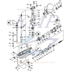 Ricambi Piede F40C, F40D, F40H, F50F, F50H, F60A, F60C, F60F Yamaha Marine