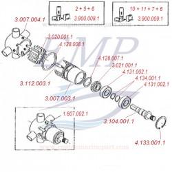 Pompa acqua completa 1366cc FNM 1.607.002.1