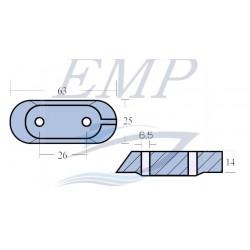 Anodo Piede Yamaha 6E0-45251-00