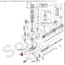 Presa acqua piede Yamaha 689-45215-01