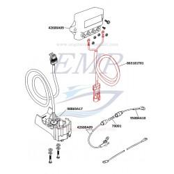 Cablaggio mercathode Mercruiser 865181A01, T01