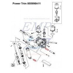 O-ring fissaggio pistone power trim 855998A11 Mercury, Mariner