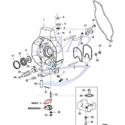Guarnizione raccordo tubi trim Mercruiser 98823,1