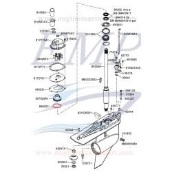 O-ring supporto paraolio asse trasmissione  Mercury, Mariner e Mercruiser 896523, 8M0142854