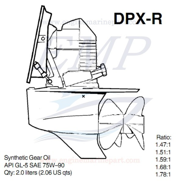 DPX-R PIEDE VOLVO PENTA