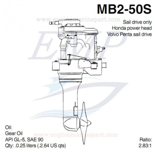 MB2-50S PIEDE VOLVO PENTA