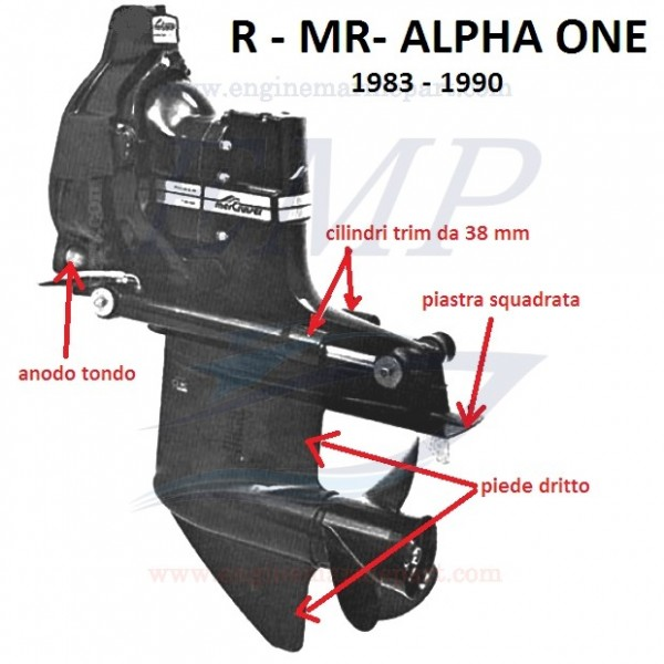 R- MR- ALPHA ONE RICAMBI PIEDE MERCRUISER