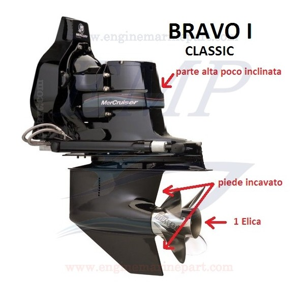 BRAVO ONE CLASSIC RICAMBI PIEDE MERCRUISER