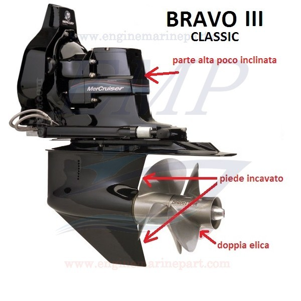BRAVO THREE CLASSIC RICAMBI PIEDE MERCRUISER