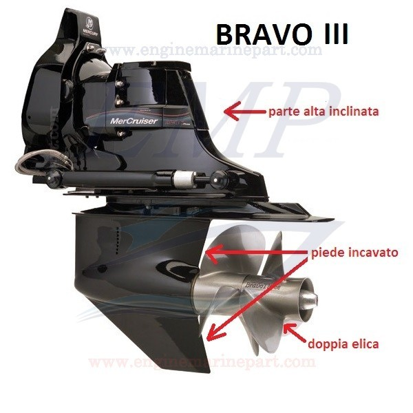 BRAVO THREE RICAMBI PIEDE MERCRUISER