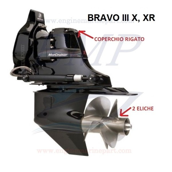 BRAVO THREE X, XR RICAMBI PIEDE MERCRUISER