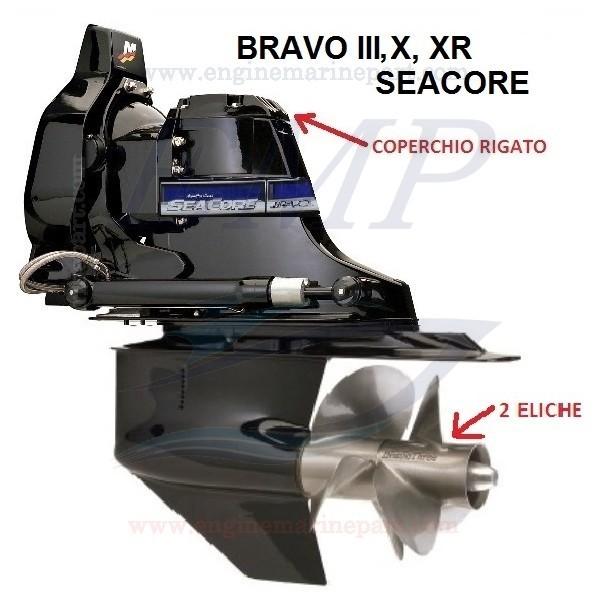 BRAVO THREE, X, XR SEACORE RICAMBI PIEDE MERCRUISER